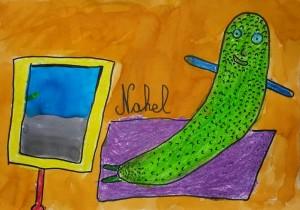 Enfant légume devant la télé 2